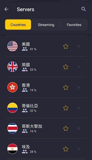 VPN 推薦 - CyberGhost 選擇伺服器